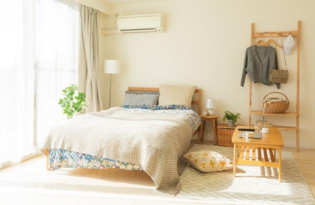 climatiseur réversible dans une chambre