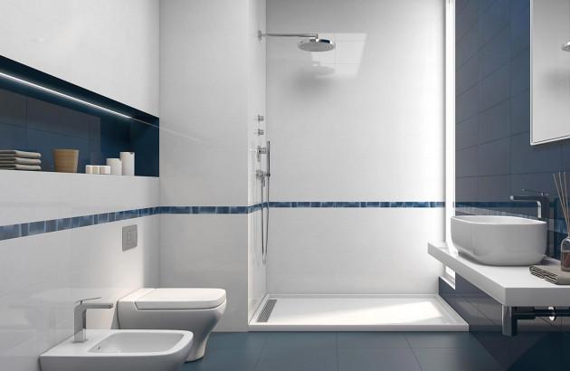 Comment adopter le carrelage bleu dans la Salle de Bain ? | Espace ...