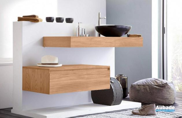 Sélection de meubles de salles de bains en teck par Line Art