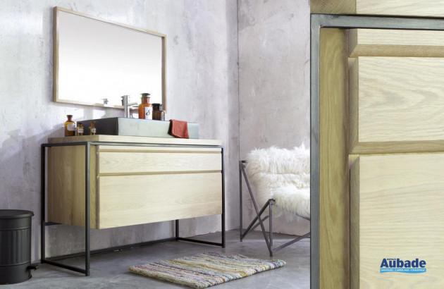 Sélection de meubles de salle de bains en teck par Line Art