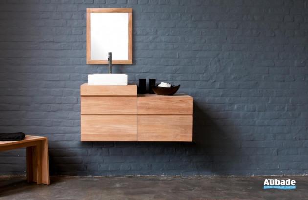 Sélection de meuble de salle de bains en teck par Line Art