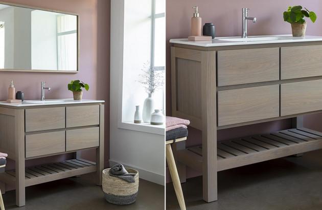 Meubles de salle de bain en bois