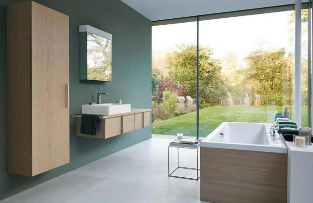 Salle de bains optimisée et aménagée avec la marque Duravit