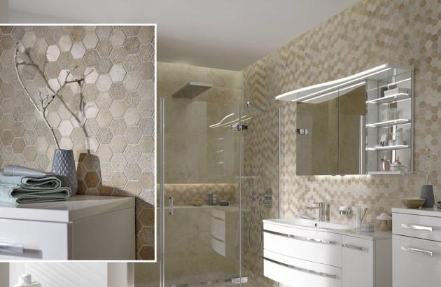 Salle de bains zoom mur
