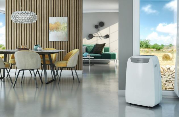 Climatisation mobile dans une cuisine