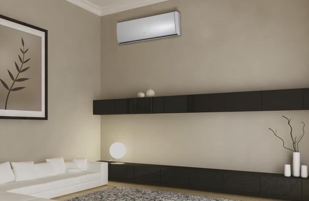Salon avec climatisation réversible