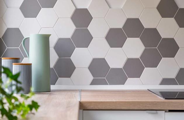 Carreaux hexagonaux muraux