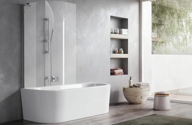 Baignoire avec pare bain Combi Wand2 Jacuzzi