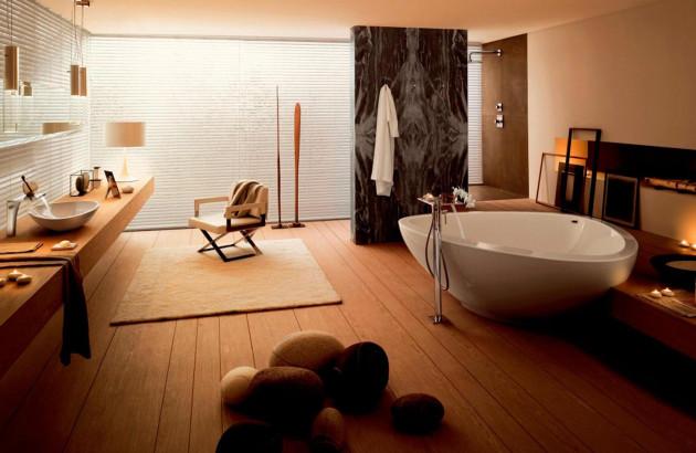 Une baignoire à poser comme la AXOR MASSAUD apporte une touche unique dans votre salle de bains