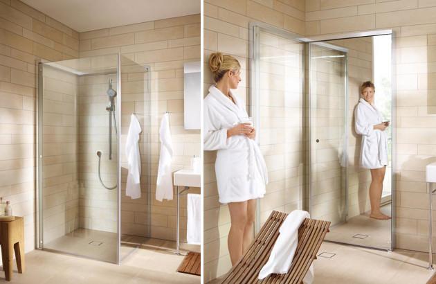 Paroi de douche miroir