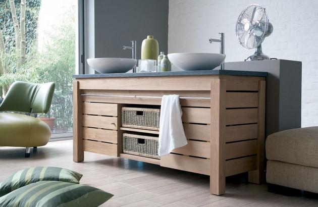 Meuble de salle de bains en teck Origin Teck Line Art