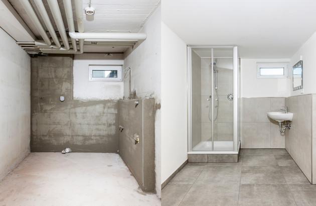 transformation d'une salle de bains