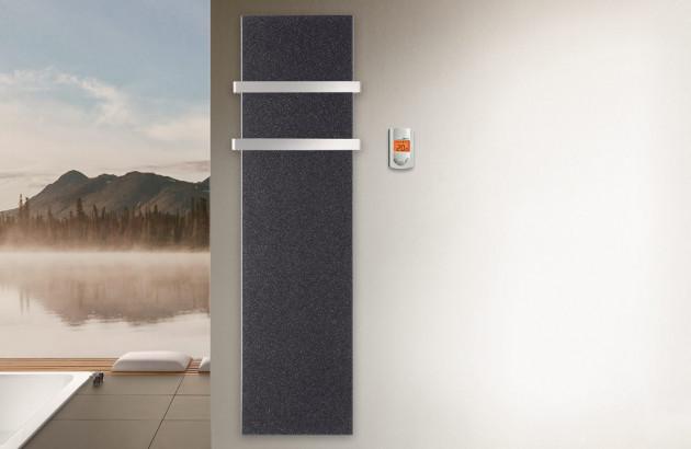 Radiateur vertical gris