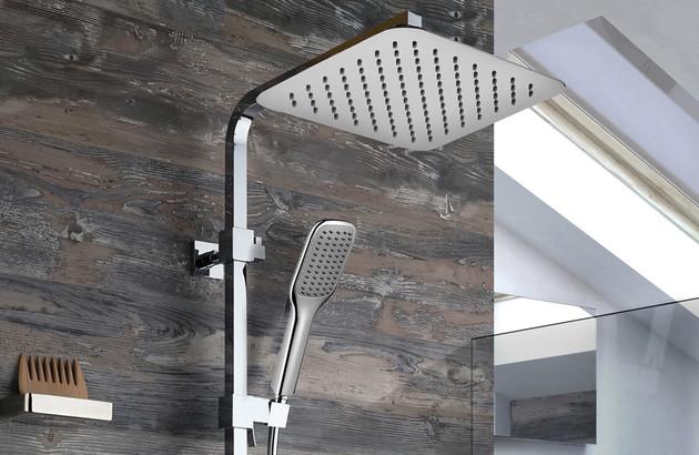 Tête de douche format carré pour douche italienne