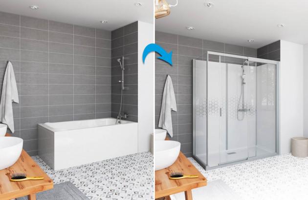 remplacement une baignoire par une douche
