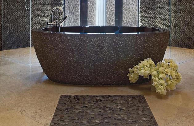 galets baignoire salle de bains