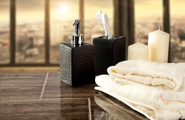 accessoires pour une salle de bains zen