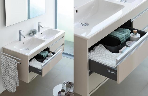 Meuble sous-vasque avec tiroirs Me By Starck de Duravit.