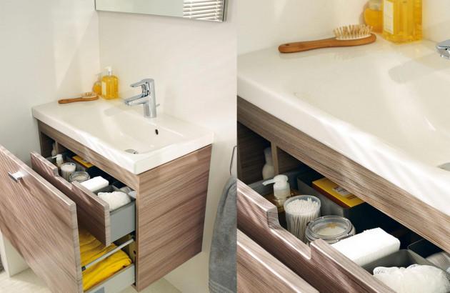 Meuble sous-vasque avec tiroirs Connect Space de Idéal Standard