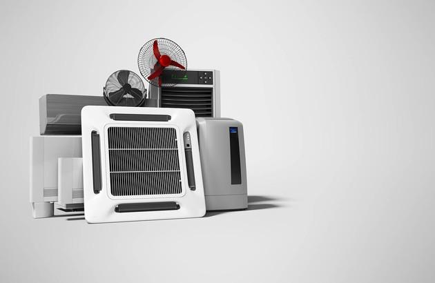 image avec plusieurs systèmes de climatisation