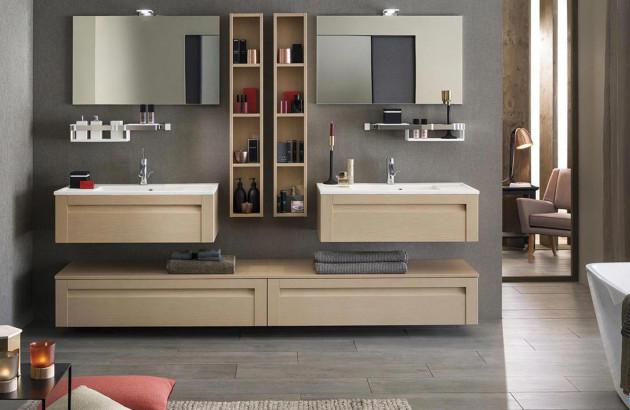 Meuble de salle de bains en bois de Delpha