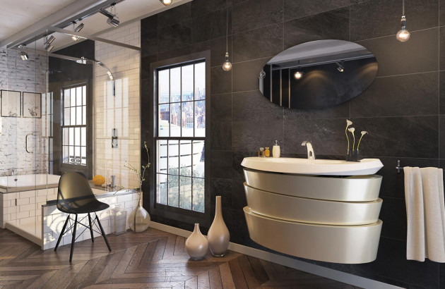 Meuble de salle de bain Virtuose par Decotec