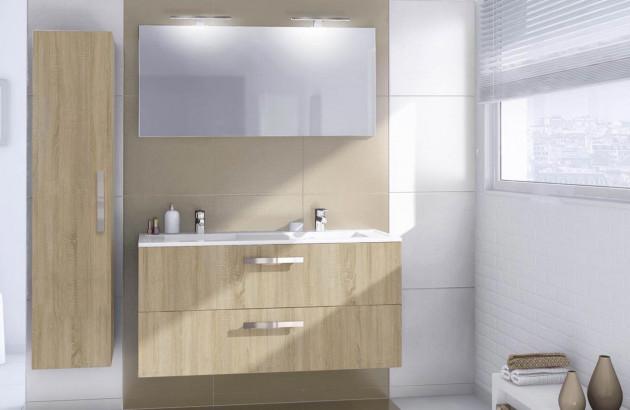 Meuble salle de bain Delpha ultra chene