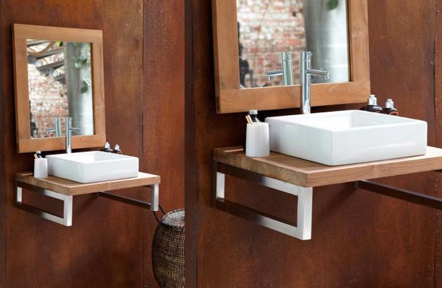 Meuble salle de bain nature par Lineart