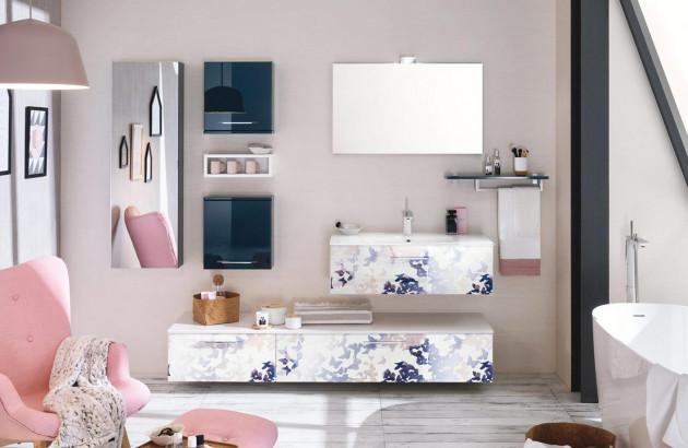 Meuble salle de bain impression Unique par Delpha