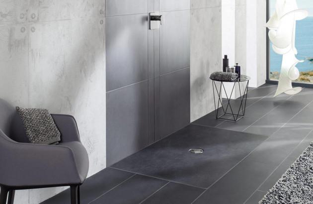 receveur de douche extra-plat et design  Infinity et Viprint de Villeroy et Boch