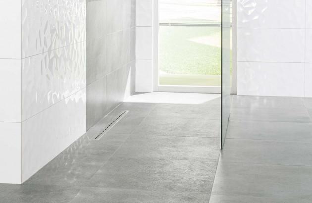 Carrelage de sol pour douche italienne Cemento de Lasselsberger