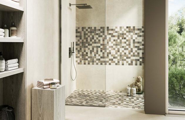 Carrelage pour douche italienne Wood par la marque Barwolf