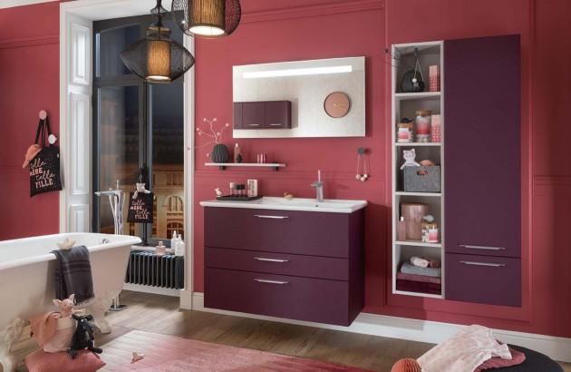 Meuble de salle de bains Unique Soft violet