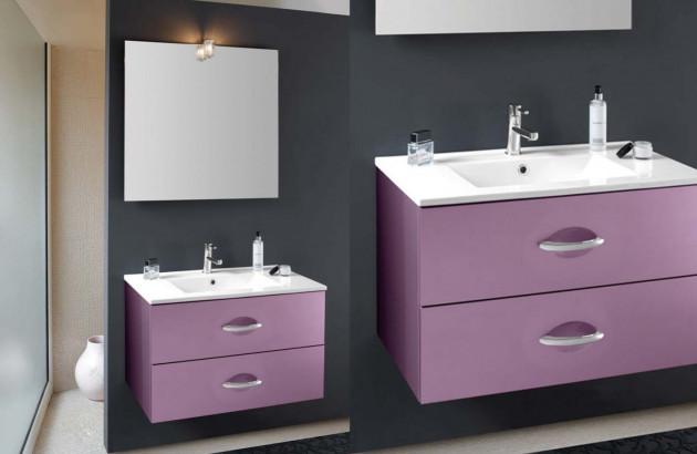 Meuble de salle de bains Bento de Decotec en violet