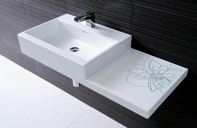 Apportez un cachet unique à votre petite salle de bains avec la vasque Laufen Living City.
