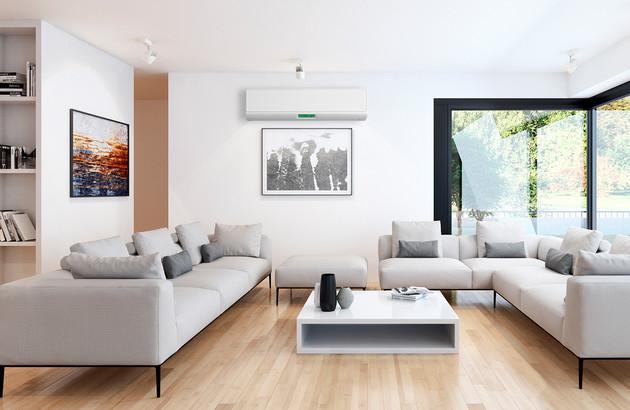 Climatisation monosplit dans un salon