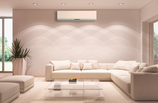 Climatisation murale monosplit dans un salon