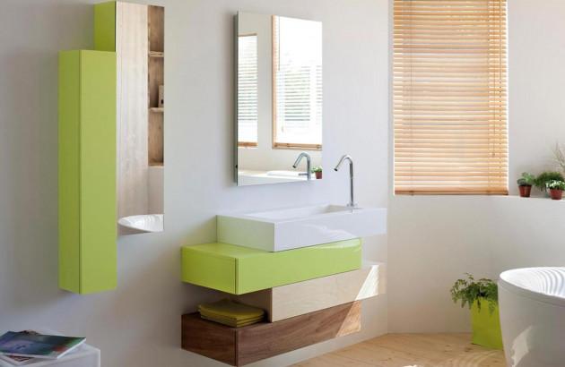 Meuble Pacific Sanijura, parfait dans une salle de bains style scandinave