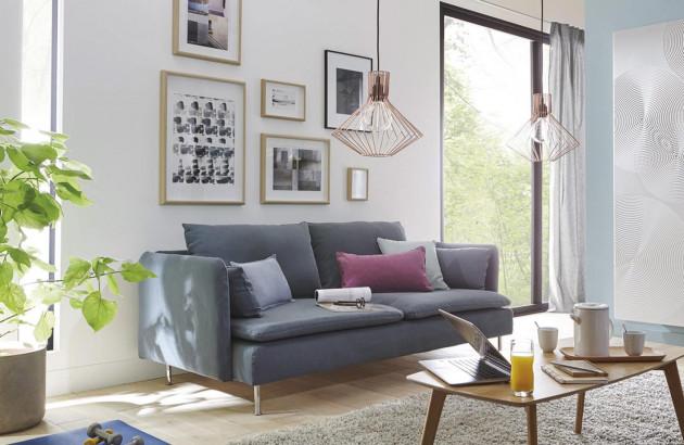 Salon cosy avec chauffage au sol
