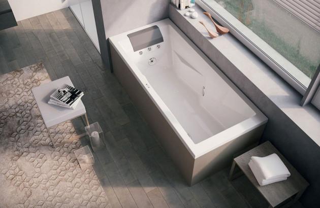 tablier de baignoire balnéo de couleurs grise