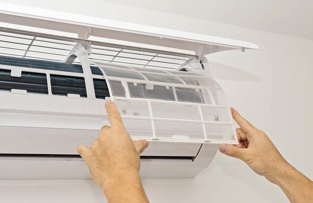 installation d'un filtre de climatisation