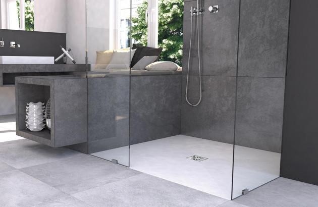 Douche italienne dans une petite salle de bain espace aubade - Petite salle de bain douche italienne ...