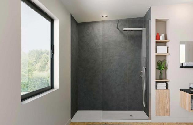 Douche Italienne dans une petite Salle de Bain | Espace Aubade