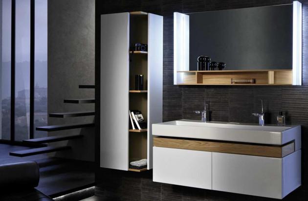 Salle de bains adaptée à toute la famille meublée avec Terrace de Jacob Delafon