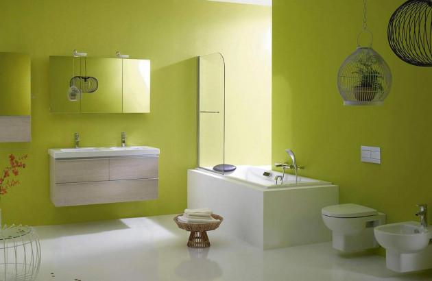 Salle de bains colorée Odeon Up de Jacob Delafon