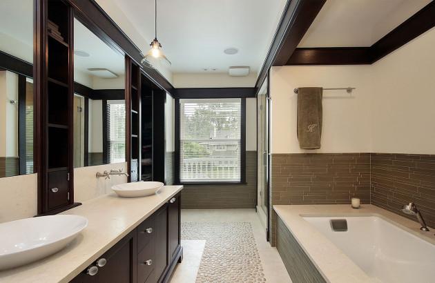 VMC connectée dans une salle de bain design