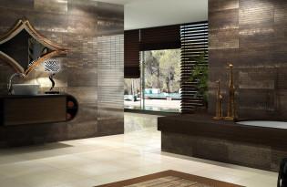 Carrelage m tal pour salle de bain moderne espace aubade - Creer une salle de bain en 3d gratuit ...