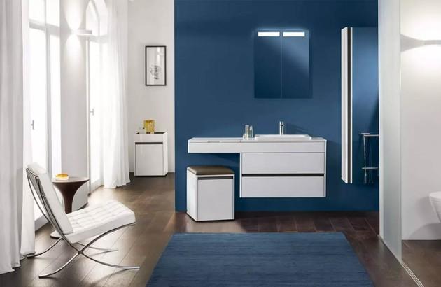 La couleur bleue dans la salle de bains | Espace Aubade