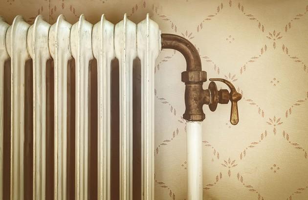 Ancien radiateur en fonte