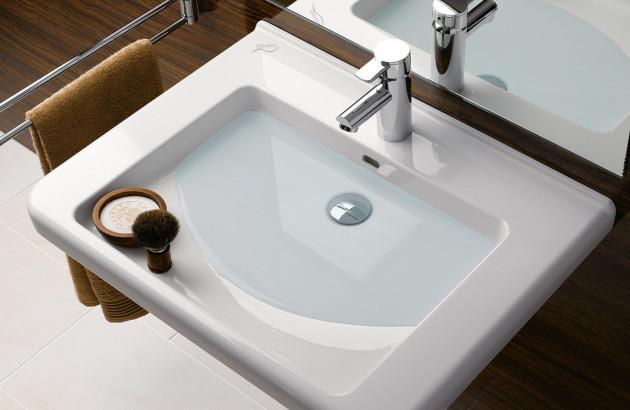Vasque légèrement bouchée